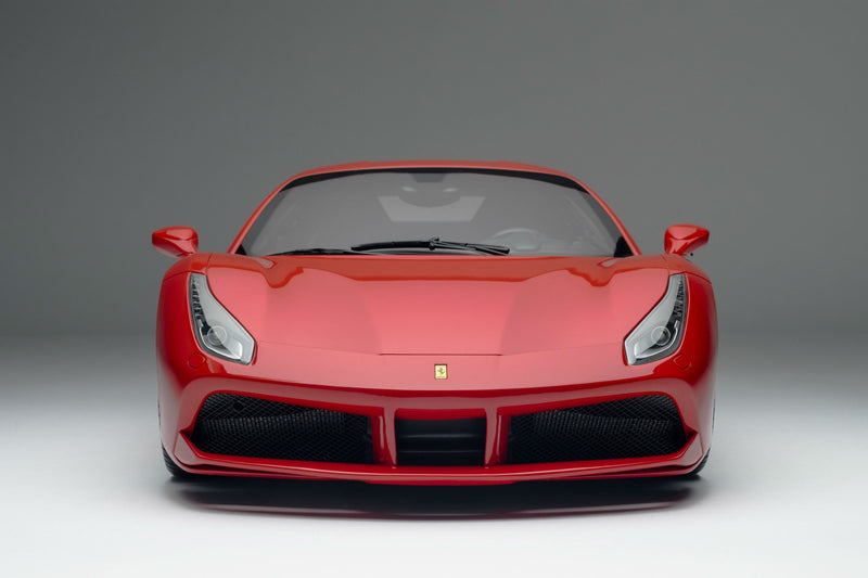 Ferrari 488 GTB | 1:8 Scale Model Car by the Amalgam Collection | Front View