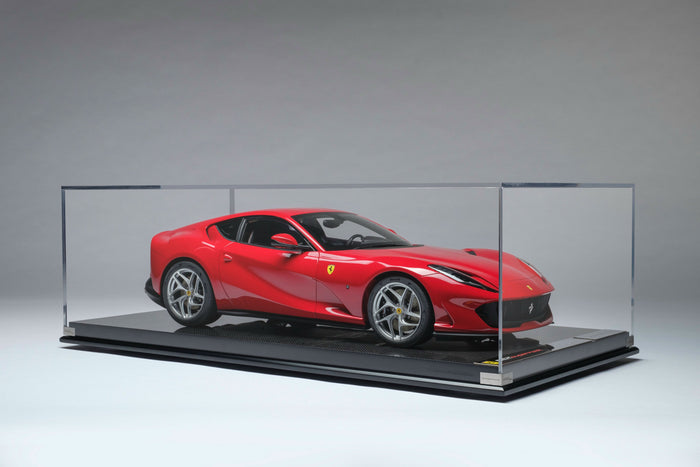 Ferrari 812 Superfast | 1:8 Scale Model Car by the Amalgam Collection | Display Case