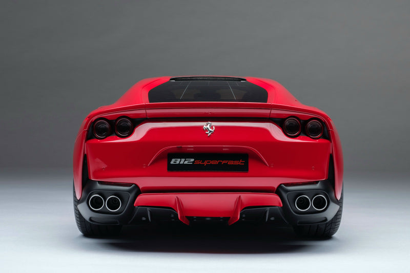 Ferrari 812 Superfast | 1:8 Scale Model Car by the Amalgam Collection | Rear Quarter