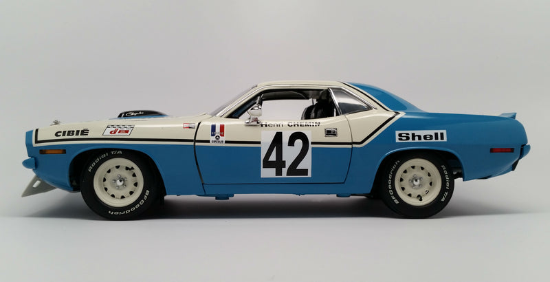 Plymouth Hemi 'Cuda (1970 Chrysler of France) | 1:18-Scale Diecast Model Car by Acme Trading Company | Profile