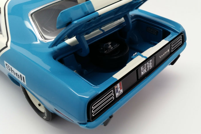 Plymouth Hemi 'Cuda (1970 Chrysler of France) | 1:18-Scale Diecast Model Car by Acme Trading Company | Trunk