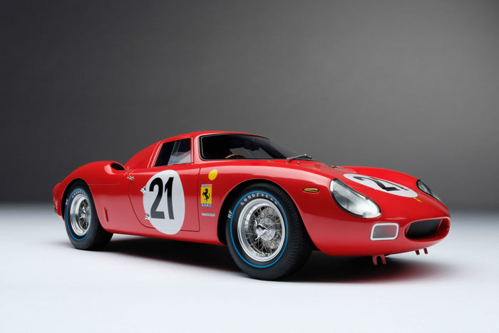 Ferrari 250LM (1965 Le Mans Winner) | 1:18 Scale Model Car by Amalgam Collection | Front Quarter