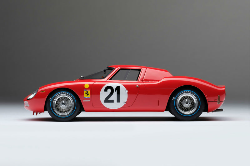 Ferrari 250LM (1965 Le Mans Winner) | 1:18 Scale Model Car by Amalgam Collection | Left Profile