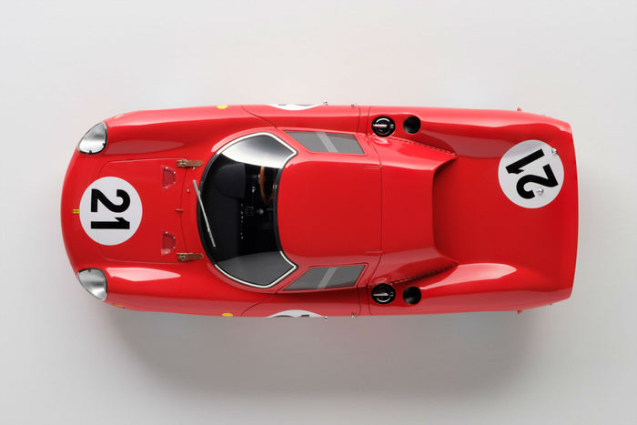 Ferrari 250LM (1965 Le Mans Winner) | 1:18 Scale Model Car by Amalgam Collection | Overhead