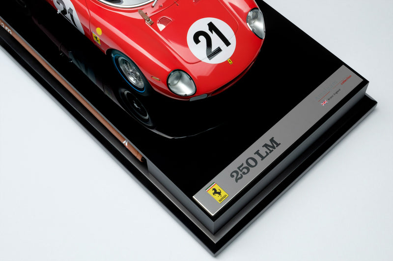 Ferrari 250LM (1965 Le Mans Winner) | 1:18 Scale Model Car by Amalgam Collection | Nameplate