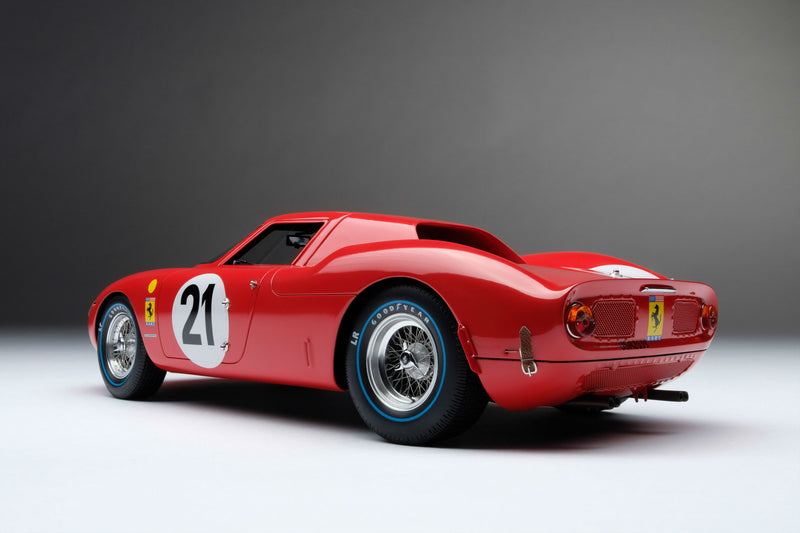 Ferrari 250LM (1965 Le Mans Winner) | 1:18 Scale Model Car by Amalgam Collection | Rear Quarter