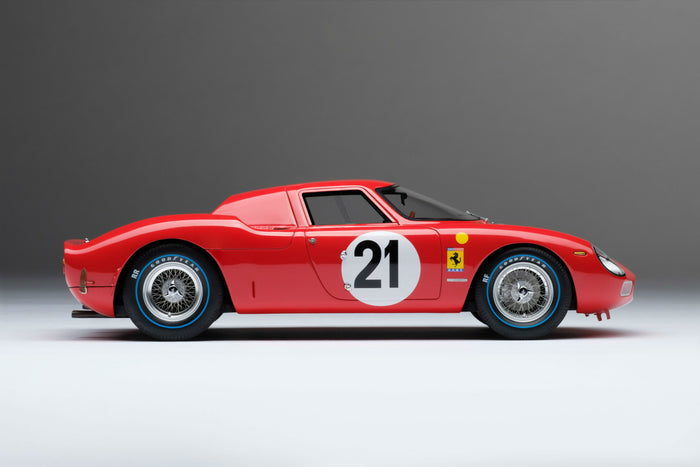 Ferrari 250LM (1965 Le Mans Winner) | 1:18 Scale Model Car by Amalgam Collection | Right Profile