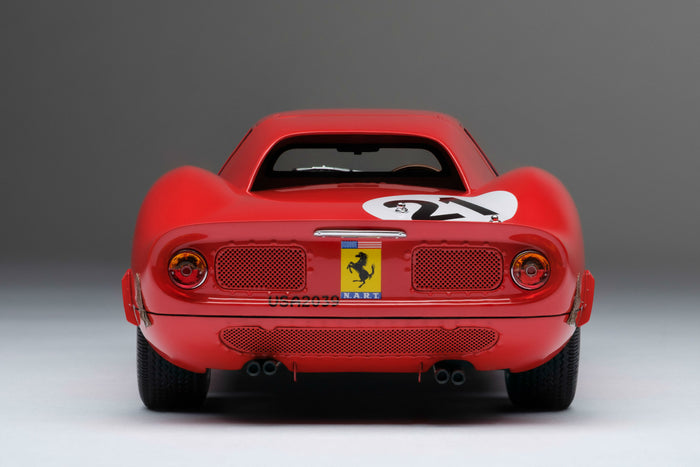 Ferrari 250LM (1965 Le Mans Winner) | 1:18 Scale Model Car by Amalgam Collection | Rear