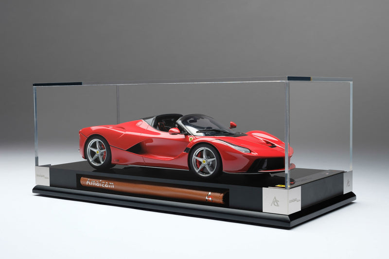 Ferrari LaFerrari Aperta | 1:18 Scale Model Car by Amalgam Collection | Display Case
