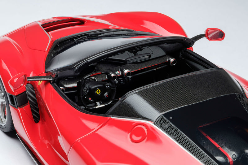 Ferrari LaFerrari Aperta | 1:18 Scale Model Car by Amalgam Collection | Left Cockpit