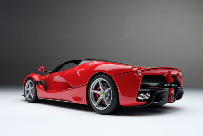 Ferrari LaFerrari Aperta | 1:18 Scale Model Car by Amalgam Collection | Rear Quarter