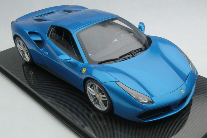 Ferrari 488 Spider | 1:8 Scale Model Car by Amalgam Collection | Front Quarter
