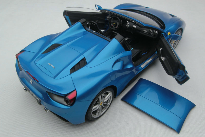 Ferrari 488 Spider | 1:8 Scale Model Car by Amalgam Collection | Overhead