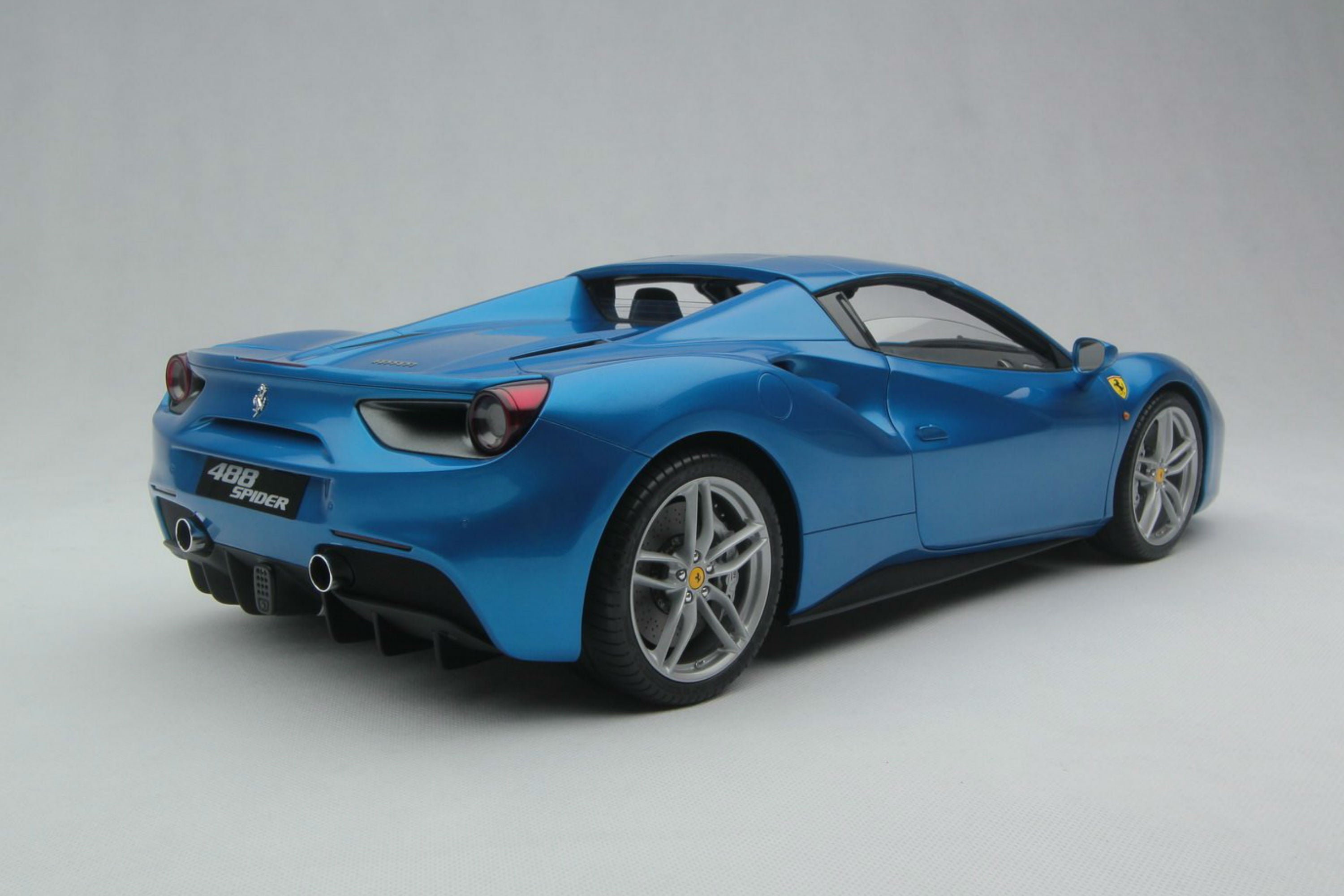Ferrari 488 Spider | 1:8 Scale Model Car by Amalgam Collection | Rear Quarter