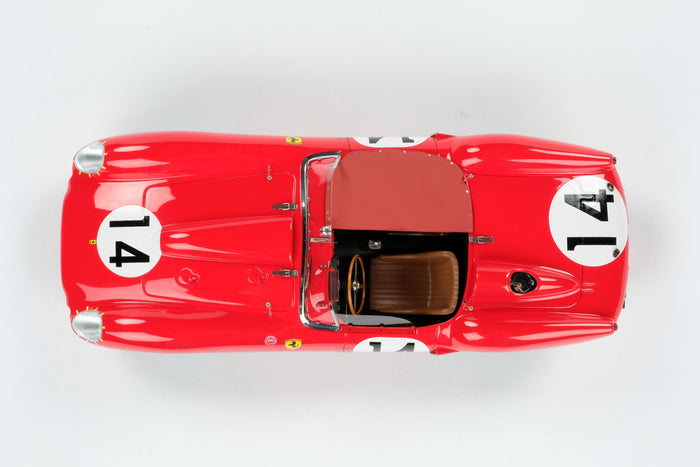 Ferrari 250 Testa Rossa (1958 Le Mans Winner) | 1:18 Scale Model Car by Amalgam Collection | Overhead