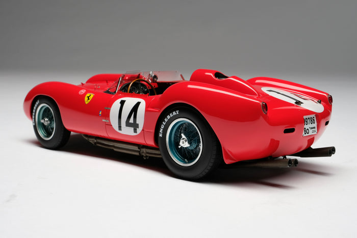 Ferrari 250 Testa Rossa (1958 Le Mans Winner) | 1:18 Scale Model Car by Amalgam Collection | Rear Quarter