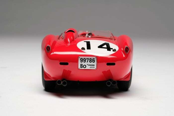 Ferrari 250 Testa Rossa (1958 Le Mans Winner) | 1:18 Scale Model Car by Amalgam Collection | Rear