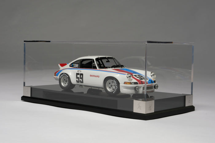 Porsche 911RSR 2.8 (1973 Daytona 24 Hours) | 1:18 Scale Model Car by Amalgam Collection | Display Case