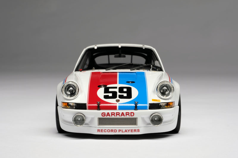 Porsche 911RSR 2.8 (1973 Daytona 24 Hours) | 1:18 Scale Model Car by Amalgam Collection | Front