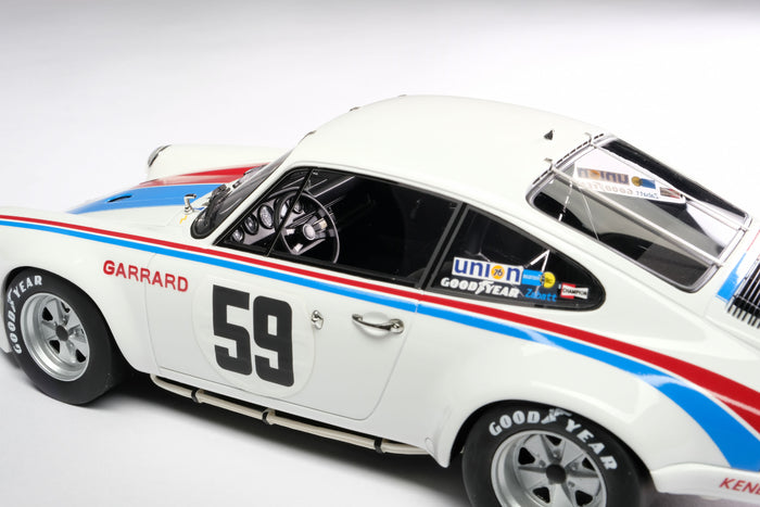 Porsche 911RSR 2.8 (1973 Daytona 24 Hours) | 1:18 Scale Model Car by Amalgam Collection | Left Detail