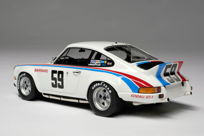 Porsche 911RSR 2.8 (1973 Daytona 24 Hours) | 1:18 Scale Model Car by Amalgam Collection | Rear Quarter