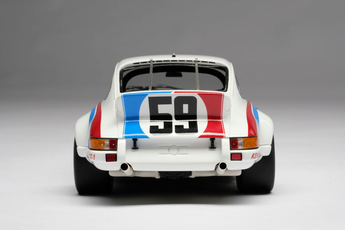 Porsche 911RSR 2.8 (1973 Daytona 24 Hours) | 1:18 Scale Model Car by Amalgam Collection | Rear