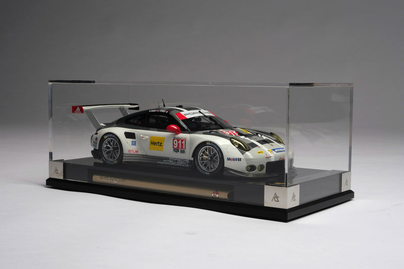 Porsche 911 RSR (2016) | 1:18 Scale Model Car by Amalgam Collection | Display Case