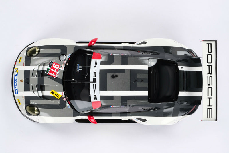 Porsche 911 RSR (2016) | 1:18 Scale Model Car by Amalgam Collection | Overhead