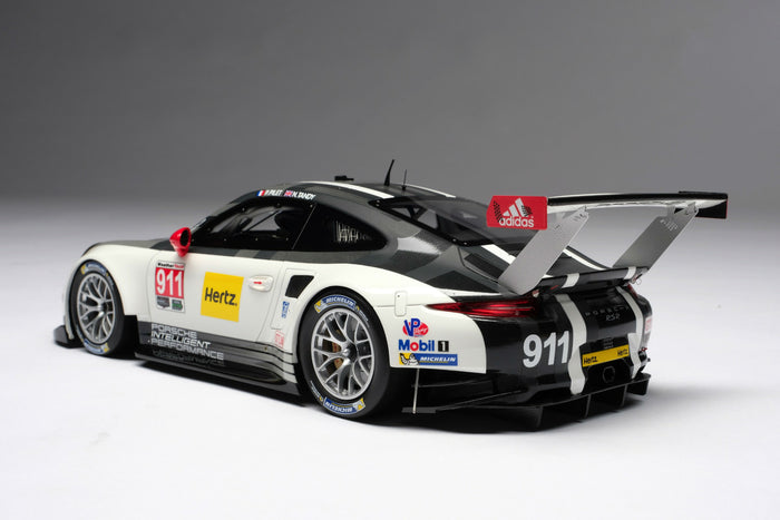 Porsche 911 RSR (2016) | 1:18 Scale Model Car by Amalgam Collection | Rear Quarter
