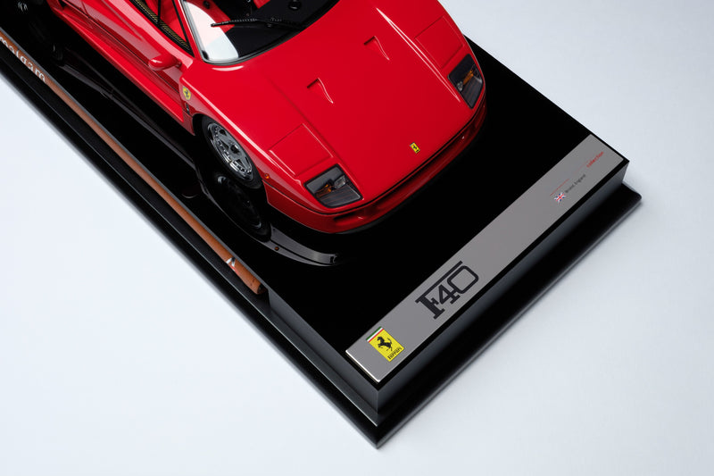 Ferrari F40 | 1:18 Scale Model Car by Amalgam Collection | Plaque