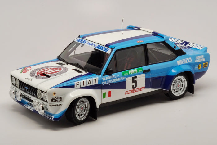 Fiat 131 Abarth (1980 Rally Portugal Winner) | 1:18 Scale Diecast Model Car by Kyosho | Front Quarter