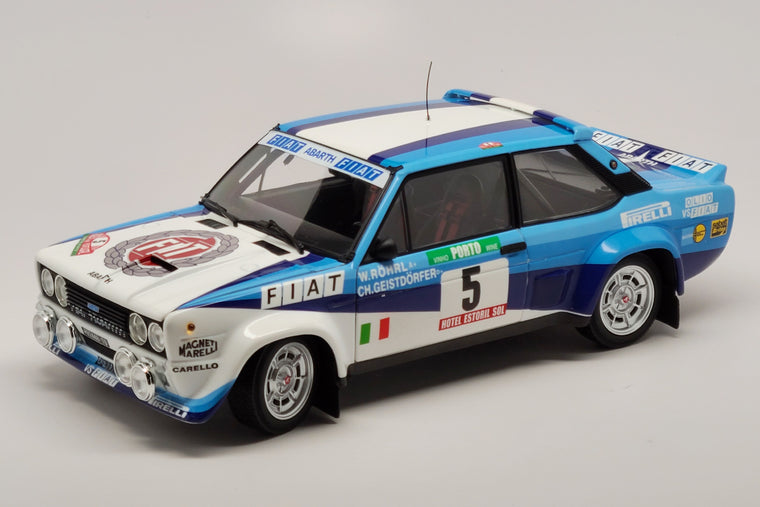 Fiat 131 Abarth (1980 Rally Portugal Winner) - 1:18 Scale Diecast Model Car by Kyosho