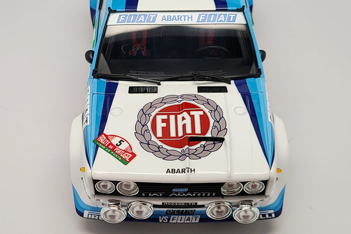 Fiat 131 Abarth (1980 Rally Portugal Winner) | 1:18 Scale Diecast Model Car by Kyosho | Livery Detail
