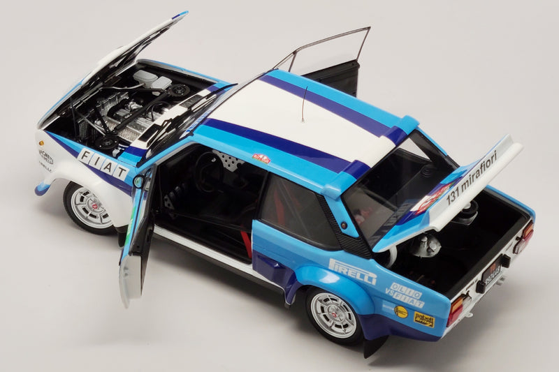 Fiat 131 Abarth (1980 Rally Portugal Winner) | 1:18 Scale Diecast Model Car by Kyosho | Open Parts