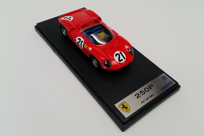 Ferrari 250P (1963 Le Mans Winner) | 1:43 Scale Model Car by Looksmart | Display Base