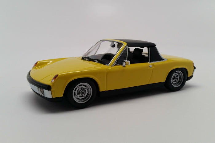 Porsche 914-4 | 1:43 Scale Diecast Model Car by Maxichamps | Yellow Variant