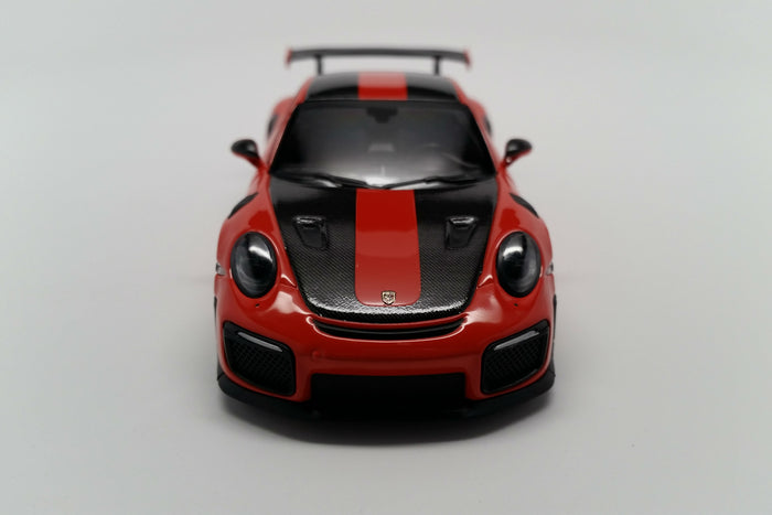 Porsche 911 GT2RS Weissach Package (991.2) | 1:43 Scale Diecast Model Car by Minichamps | Front