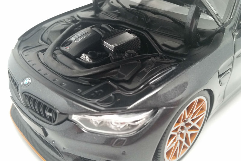 BMW M4 GTS (2016) | 1:18 Scale Diecast Model Car by Minichamps | Engine Detail
