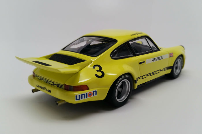 Porsche 911 Carrera 3.0 IROC RSR | 1:43 Scale Diecast Model Car by Minichamps | Rear Quarter