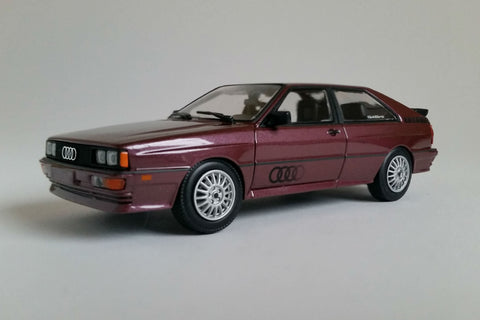 Audi Quattro (1980) | 1:43 Scale Diecast Model Car by Minichamps | Front Quarter