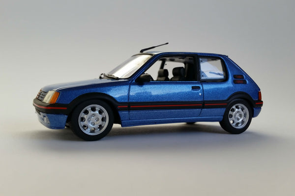 Peugeot 205 GTI (1990) | 1:43 Scale Diecast Model Car by Maxichamps | Front Quarter