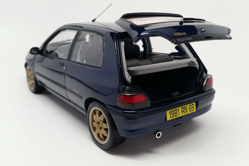 Renault Clio Williams Phase 1 (1993) | 1:18 Scale Diecast Model Car by Norev | Rear Hatch