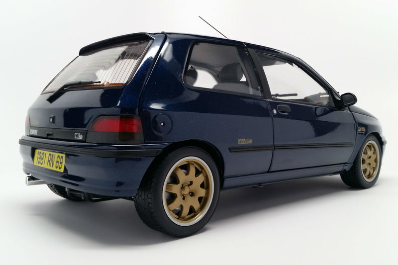 Renault Clio Williams Phase 1 (1993) | 1:18 Scale Diecast Model Car by Norev | Rear Quarter