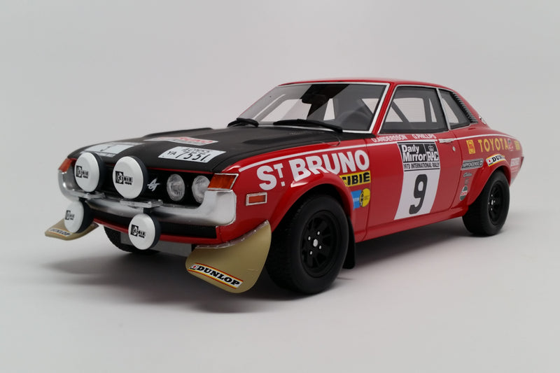 Toyota Celica TA22 RAC Rally 1973 | 1:18 Scale Model Car by Ottomobile | Front Quarter