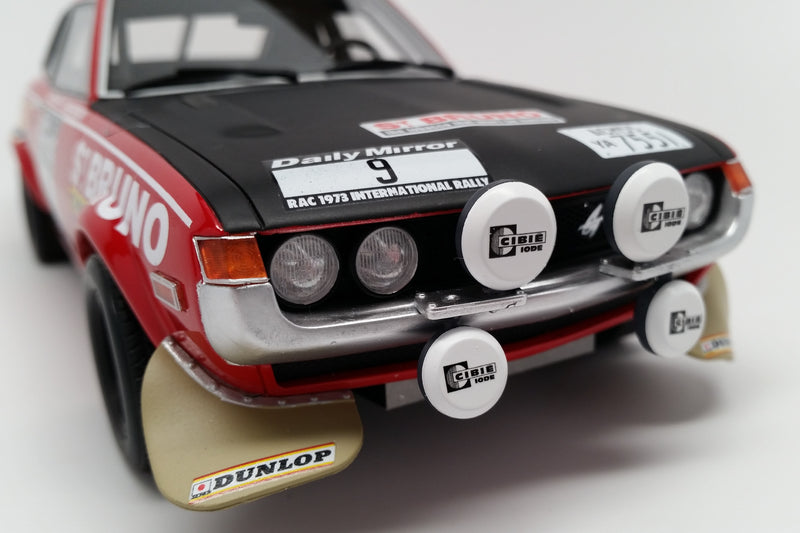 Toyota Celica TA22 RAC Rally 1973 | 1:18 Scale Model Car by Ottomobile | Front Detail
