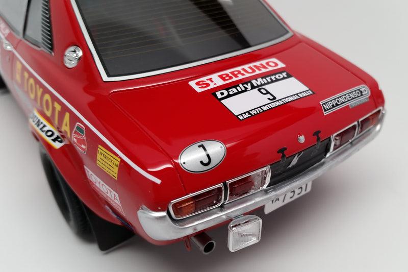 Toyota Celica TA22 RAC Rally 1973 | 1:18 Scale Model Car by Ottomobile | Rear Detail