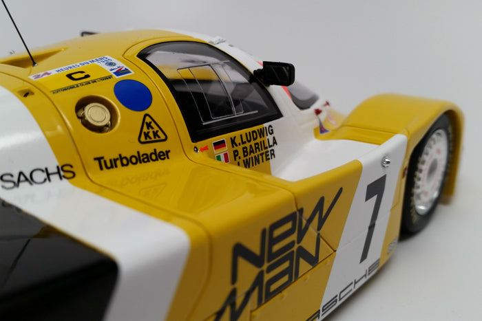 Porsche 956 (1985 Le Mans Winner) | 1:18 Scale Model Car by Spark | Side Detail