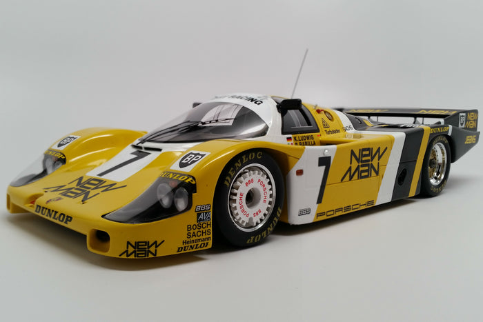 Porsche 956 (1985 Le Mans Winner) | 1:18 Scale Model Car by Spark | Front Quarter