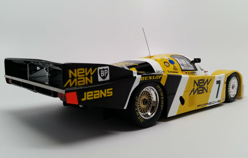 Porsche 956 (1985 Le Mans Winner) | 1:18 Scale Model Car by Spark | Rear Quarter
