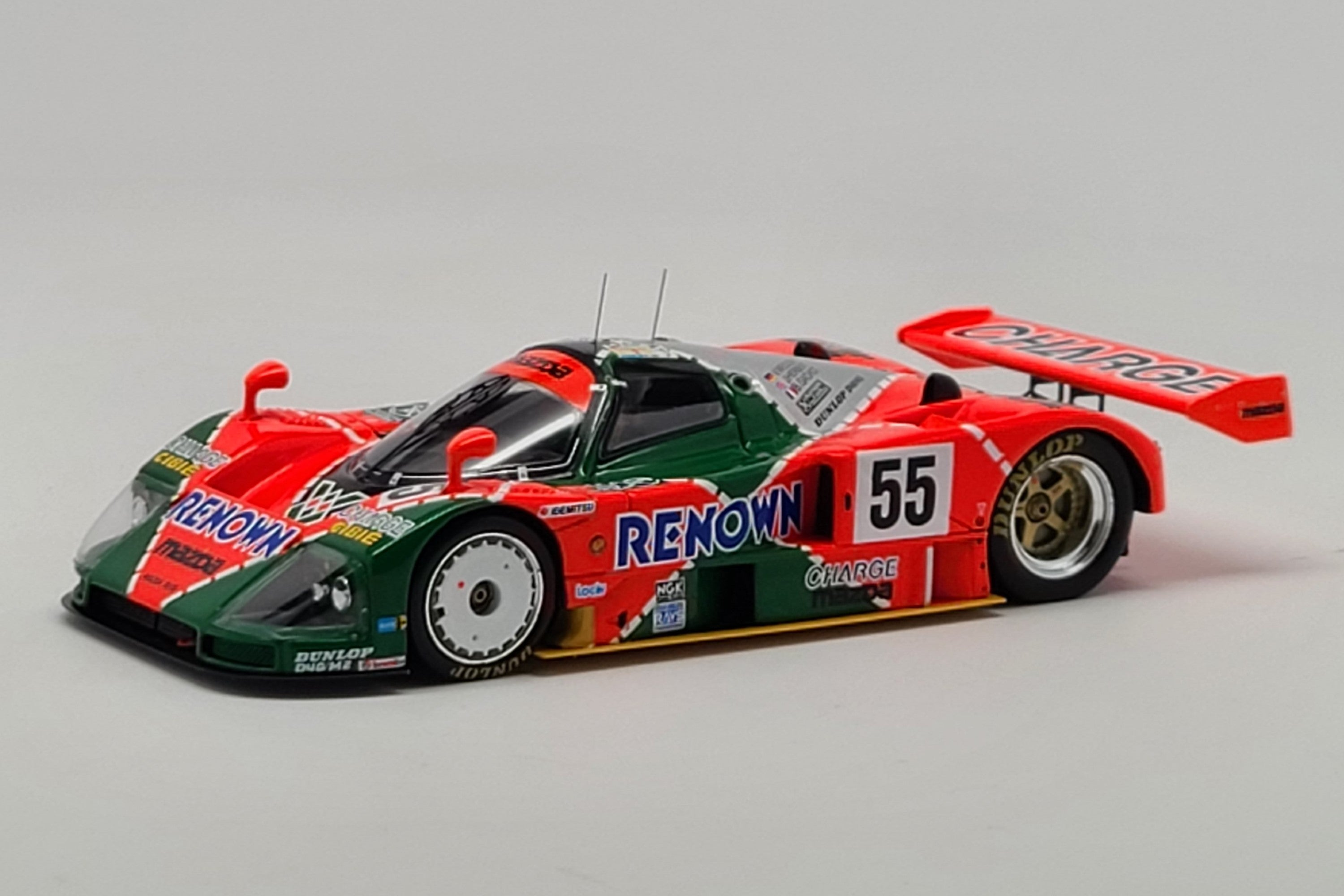 Mazda 787B (1991 Le Mans Winner) | 1:43 Scale Model Car by Spark | Front Quarter